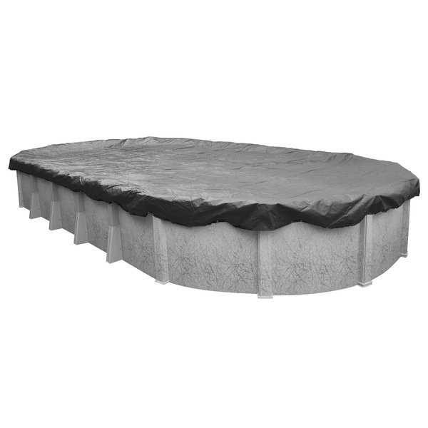 Pool Mate 20-Year Professional-Grade Charcoal Winter Cover for Oval Above-Ground Swimming Pools