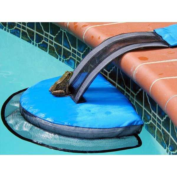 Frog Log Swimming Pool Critter Saving Escape Ramp, 25.5-Inches - Blue