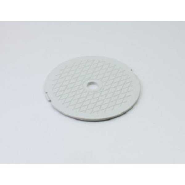 7.75' White Decorative Diamond Pattern Swimming Pool Skimmer Cover